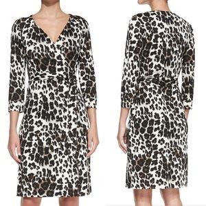 Diane Von Furstenberg Silk-Jersey Midi Wrap Dress